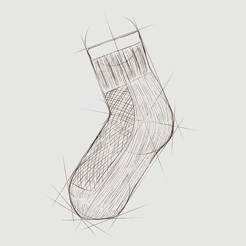 袜子图片大全简笔画